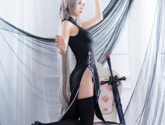 [COSER] 疯猫ss - 旗袍真棒! 丝袜美图[36P]
