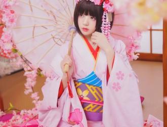 [网红COSER] 桜桃喵 - (加藤惠)和服COS系列  [23P]