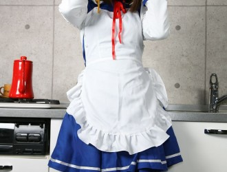 [Cosplay] 厨房女仆制服COSPLAY诱惑[66P]
