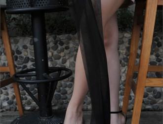 [IESS异思趣向] 丝足便当074期 馨月《黑丝与超高跟凉鞋》[99P]