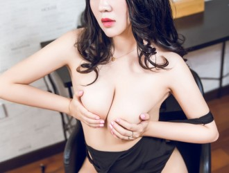 [TouTiao头条女神] VIP037 可儿 - 黑色高叉巨乳系列[27P]